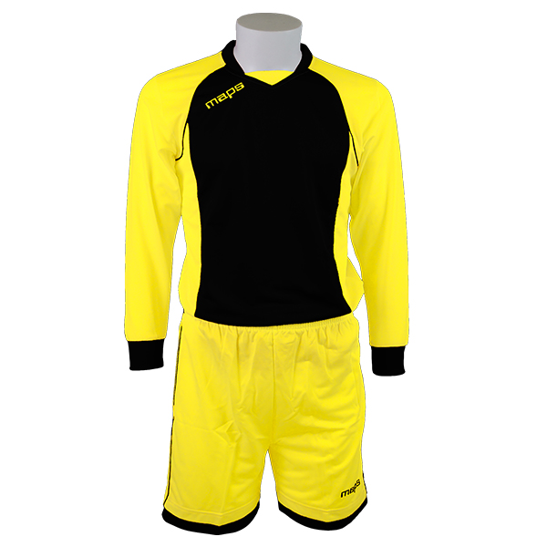 A OUTLET KIT AJAX MANICA LUNGA GIALLO NERO